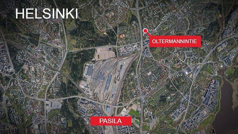 Kartta-Oltermannintie-Helsinki