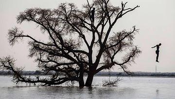 LK 14.9.2021 Tulva koettelee Sudania. Kuva maan pääkaupungin Khartumin eteläosasta 7.9.2021.