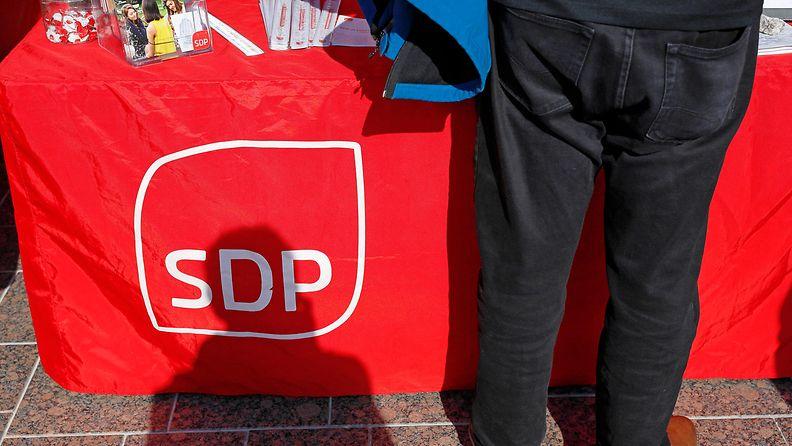 AOP  Vaalit, SDP, logo, vaalikoju