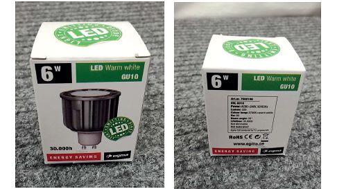 Egma-led-lamppupakkaus