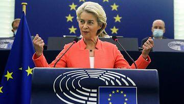 LK 15.9.2021 EU-komission puheenjohtaja Ursula von der Leyen piti unionin tila puheen 15.9.2021.