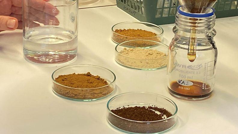 VTT, kahvi, laboratorio