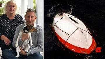 """Laivalla ollut pariskunta päätyi pelastamaan ihmisiä Estonialta – """"Laivan ohi lipui kaksi ruumista, joista toinen oli lapsi"""""""