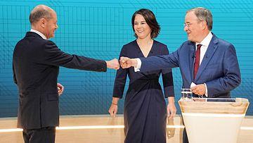 AOP Saksan vaalit, tv-väittely 12.9.2021: Olaf Scholz, Annalena Baerbock, Armin Laschet