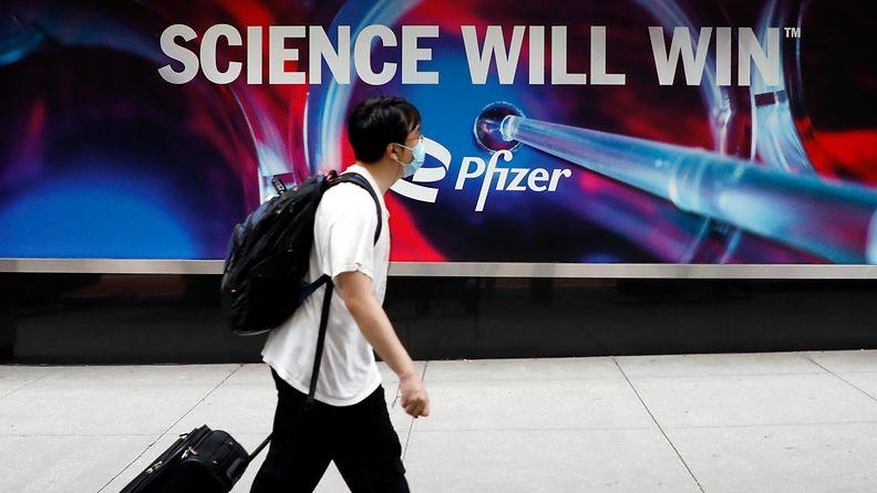 Pfizerin mainos New Yorkissa AOP