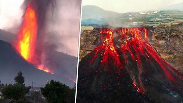 Reuters La Palman tulivuorenpurkaus voimistui maanantaina.