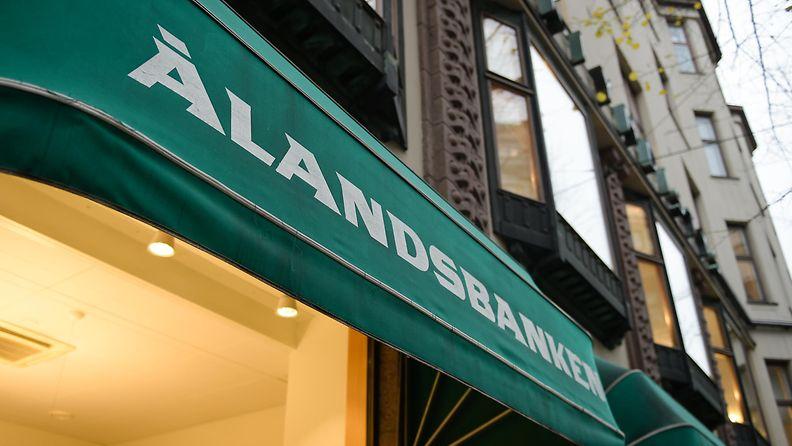 Ålandsbankenin konttori Helsingissä.