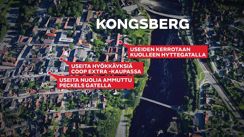 Kartta - Kongsberg