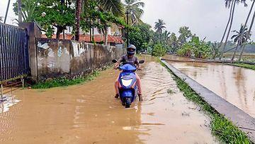 Kuvaa tulvatilanteesta Intian Keralassa.