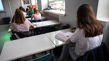 Äidinkielen opiskelua peruskoulussa Helsingissä 30. elokuuta 2019.