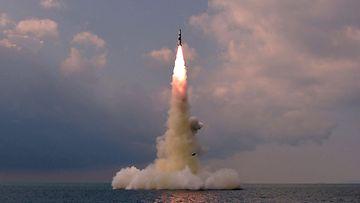 Pohjois-Korea ohjuskoe lokakuussa 2021.