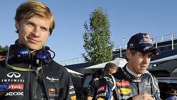 Heikki Huovinen ja Sebastian Vettel Australian GP:ssä.