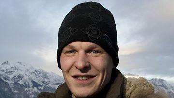 MTV3:n mäkikommentaattori Toni Nieminen, 2009.