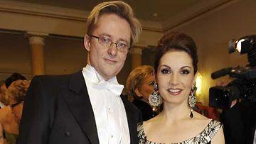 Mikael ja Mari Jungner itsenäisyyspäivän vastaanotolla vuonna 2008.