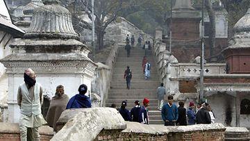 Pashupatinathin temppeliaukio Kathmandussa.