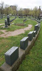 Titanicin haaksirikossa kuolleiden hautausmaa Kanadassa.