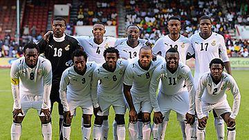 Ghanan jalkapallomaajoukkue elokuussa 2009, kuva: Laurence Griffiths/Getty Images