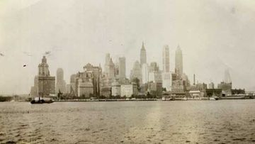 Manhattan mereltä päin.