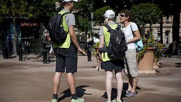 Helsinki Helpit Esplanadin puistossa.
