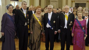 Presidentit yhteiskuvassa Linnan juhlissa vuonna 2011.