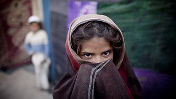 Afganistanilaistyttö Kabulissa.