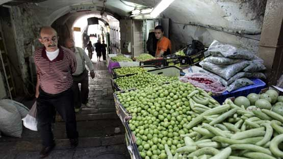 Kauppakuja Jerusalemissa.