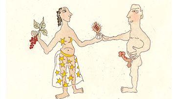 Tiina Pystynen on saanut vaikutteita kuviinsa muun muassa intialaisesta kuvataiteesta.