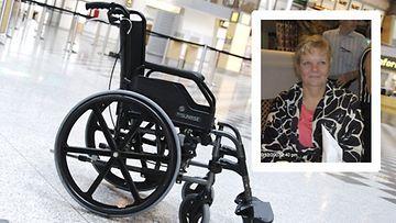Nyt Sirkka-Liisa on jo isoäiti, eivätkä hänen lapsenlapsensa ole moksiskaan siitä, että heidän mammansa kulkee pyörillä.