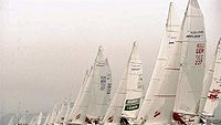 Melges 24 -veneitä, photo: Allsport UK /Allsport