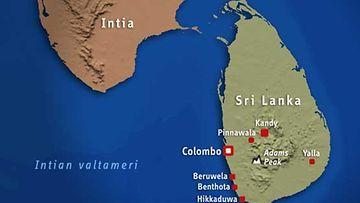 Sri Lankan kartta