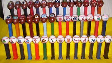 Amerikkalaisten jalkapallo- ja baseball -joukkueiden nimikkoPEZit