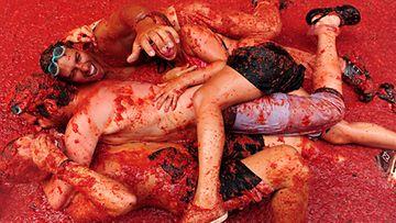 Tomaattisota Espanjassa.