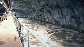 Viikinmäen vedenpuhdistamon prosessiallas.